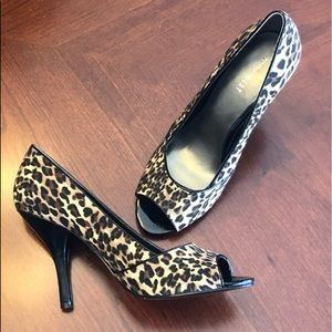 Nine West Leopard Print Heels